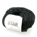 Lana Fashion Star Negro/plateado x50g