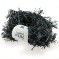 Lana Fashion Super Fur Duo Gris/Negro x50g