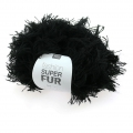 Lana Fashion Super Fur Negro x50g