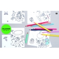 Surtido Papel adhesivo Paper Poetry  XL 4 cm Colouring activity Monstre x10