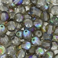 Cuentas redondas 4 mm Crystal Graphite Rainbow x50