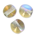 Cuentas redondas 4 mm Crystal Golden Rainbow x50