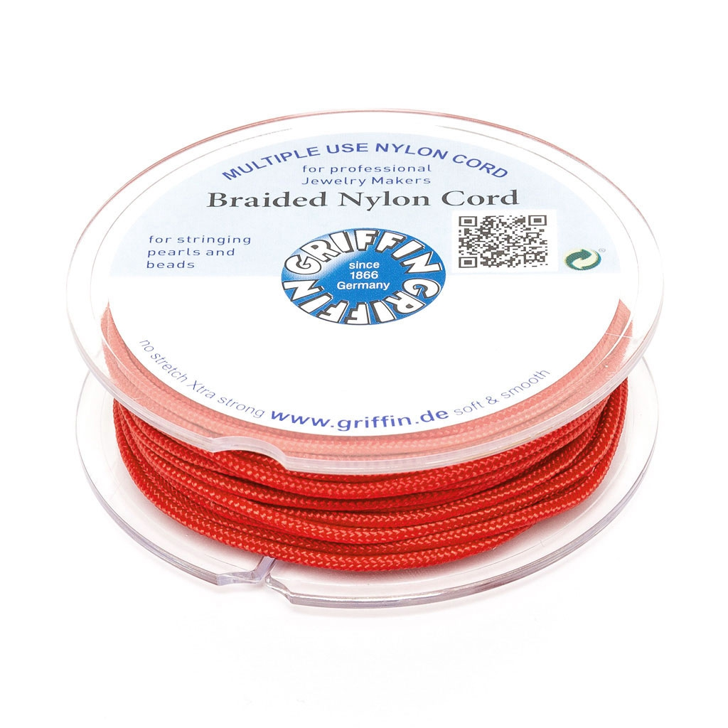 Hilo nylon trenzado europeo Griffin 1 mm Red x25m - Perles & Co