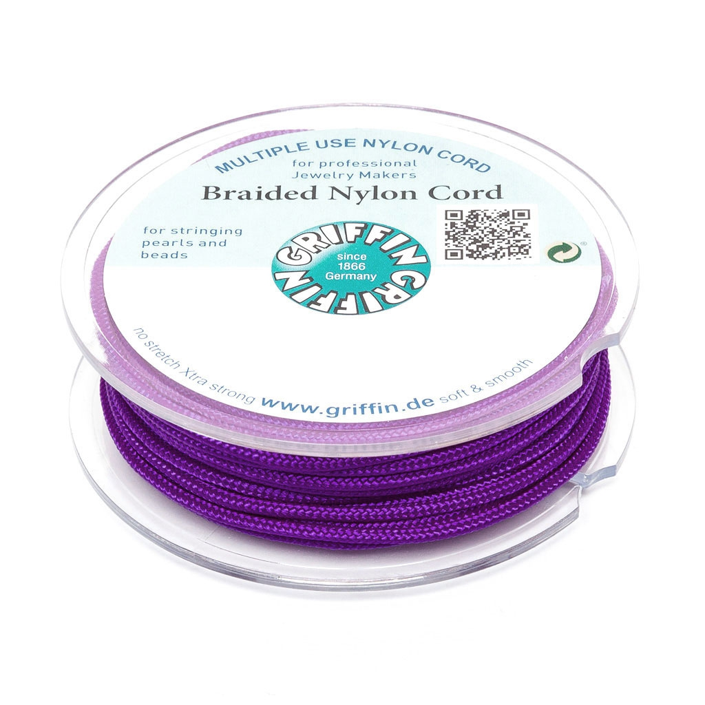 Hilo nylon trenzado europeo Griffin 1 mm Amethyst x25m - Perles & Co