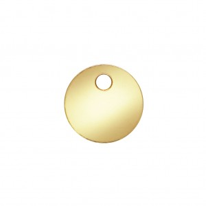 Sequin rond 6 mm Gold filled 14 carats x1