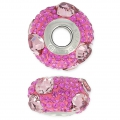 BeCharmed Pavé Swarovski 81722 15 mm Crystal Antique Pink/Fucsia x1