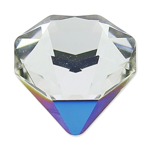 Cabuchón Swarovski 4928 Tilted Chaton 12 mm Crystal Bermuda Metal. Blue