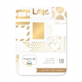 Surtido de 18 cartes 7.5x10cm Doré Love para l'Album Project Life DIY
