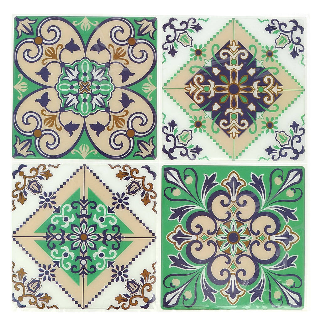 4 pegatinas decorativas mosaicos 12x12cm estilo azulejos for Pegatinas decorativas