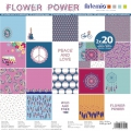 Bloque de papel para scrap 30.5x30.5 cm Flower Power x 40 hojas