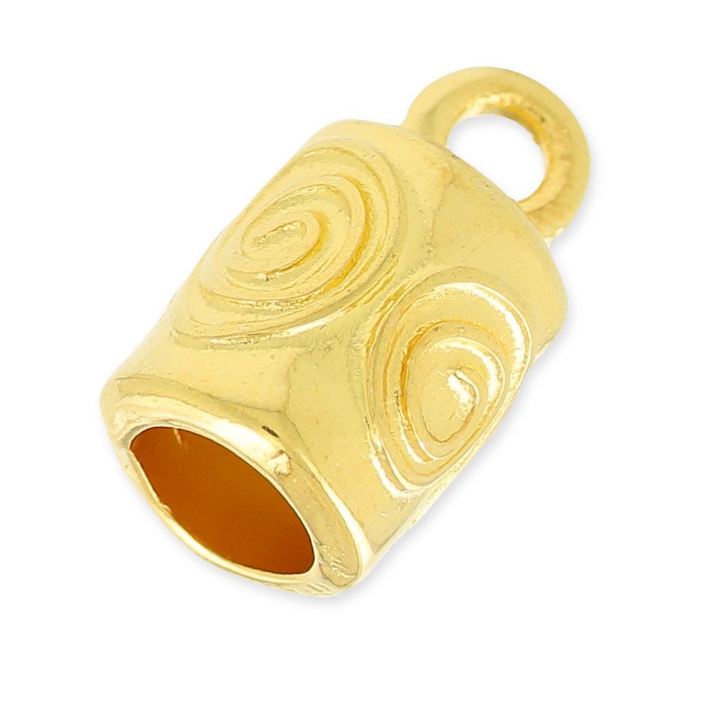 Terminal para la creación de joyas espiral o para cordón 8.8 mm dorado 1594dd835512