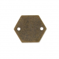 Entrepiezas de metal diamantado hexagone 2 agujeros 11.5 mm bronce x8