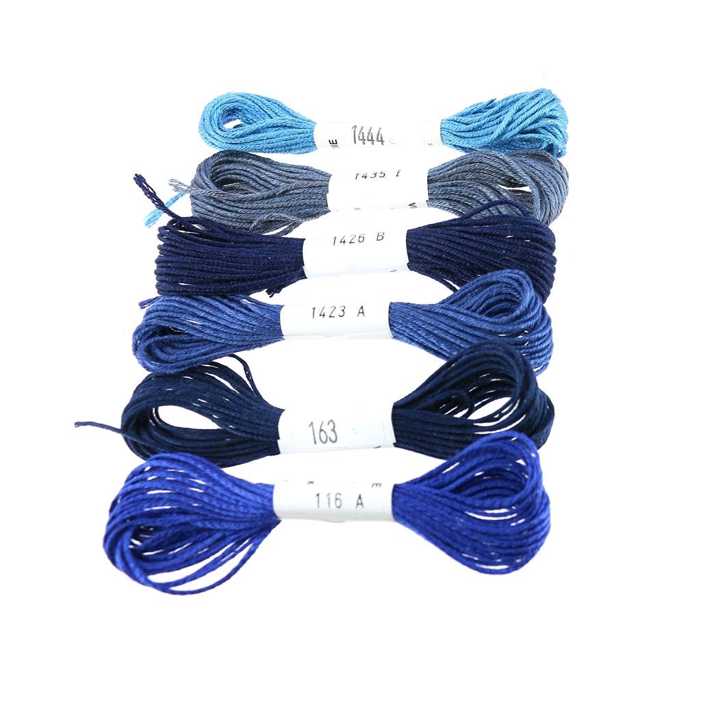 Hilo para bordar Seda d\'Alger Denim Blue (1423) x5m - Perles & Co