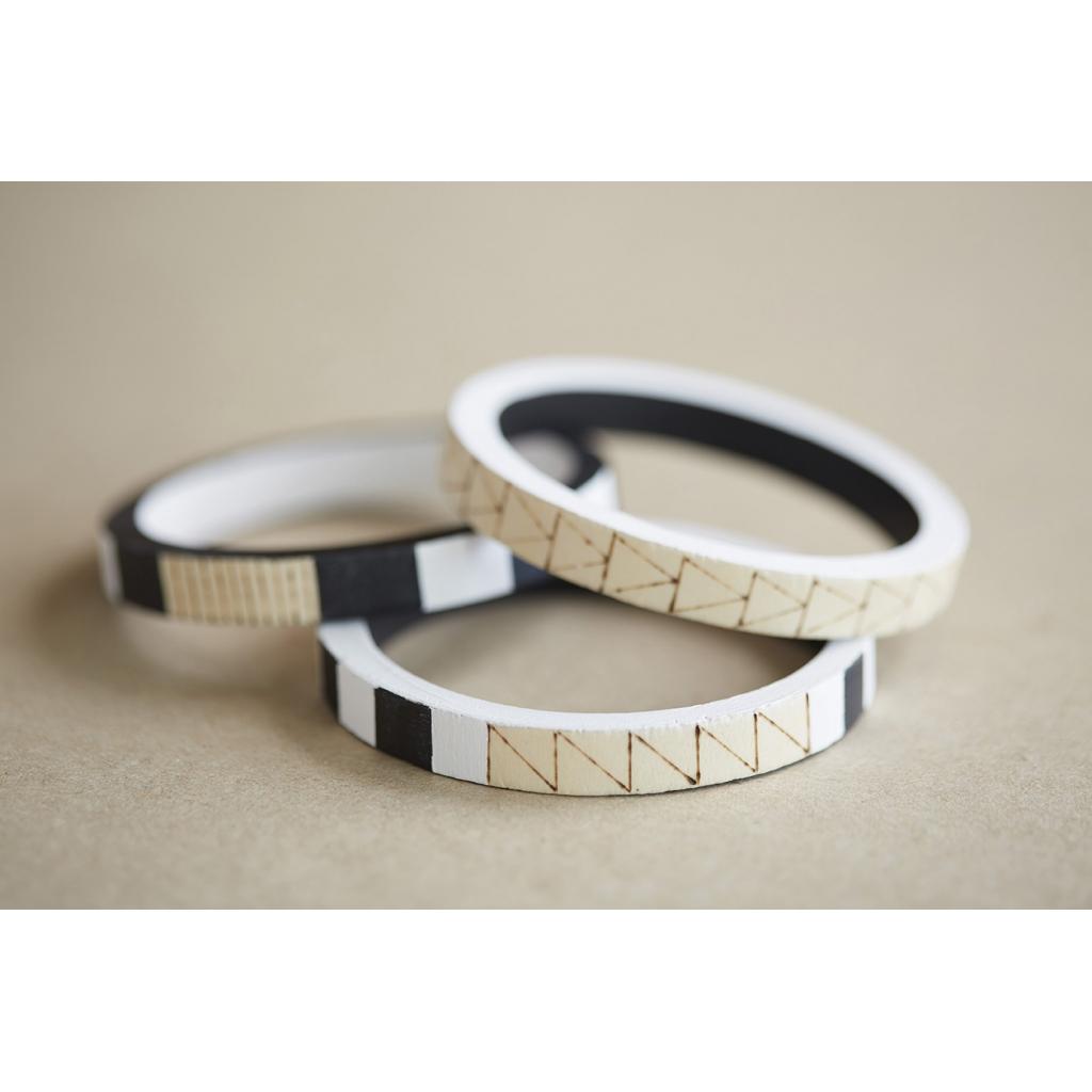 Bracelet Bois Brut A Decorer