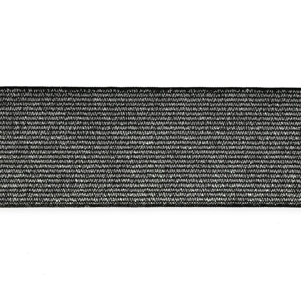 Cinta elástica metalizada para cinturón 40 mm Plateado x 1m - Perles ... 2d4f42103697