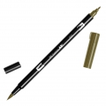 Rotulador Tombow Dual Brush - Rotulador punta de pincel doble Dark Ochre ABT-027