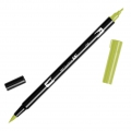 Rotulador Tombow Dual Brush - Rotulador punta de pincel doble Light Olive ABT-126