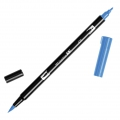 Rotulador Tombow Dual Brush - Rotulador punta de pincel doble Cyan ABT-476