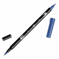 Rotulador Tombow Dual Brush - Rotulador punta de pincel doble Deep Blue ABT-565