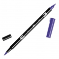 Rotulador Tombow Dual Brush - Rotulador punta de pincel doble Violet ABT-606