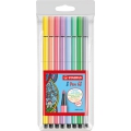 Etui de 8 stylos feutres Pen 68 STABILO pointe moyenne 1 mm Pastel Collection