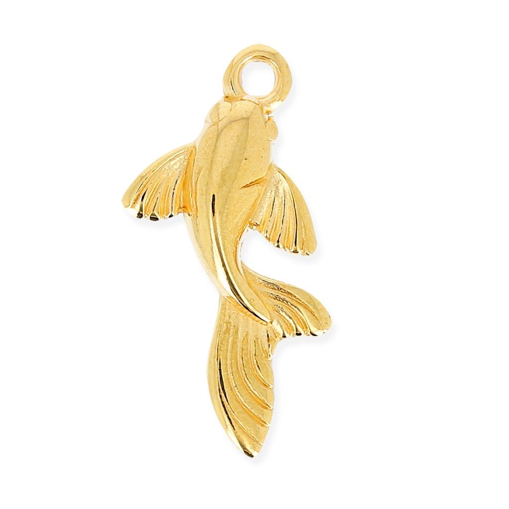 Dije de metal pez carpe ko 26 mm dorado x1 perles co for Peces koi baratos