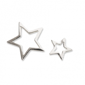 Entrepiezas de metal It's Magic Made by Me 18 et 11 mm Estrella plateado x2
