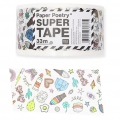 Papel adhesivo - Paper Poetry Super Tape 50 mm Magical Summer Blanco x33m