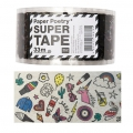 Papel adhesivo - Paper Poetry Super Tape 50 mm Magical Summer Transparente x33m