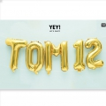 Ballon aluminium pour decoration festive Yey - Let's Party lettre 7 doré x1