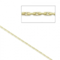 Cadena fina 0.6mm para Miyuki Delicas 11/0 serpentina Gold filled 14 kilates x 1 m