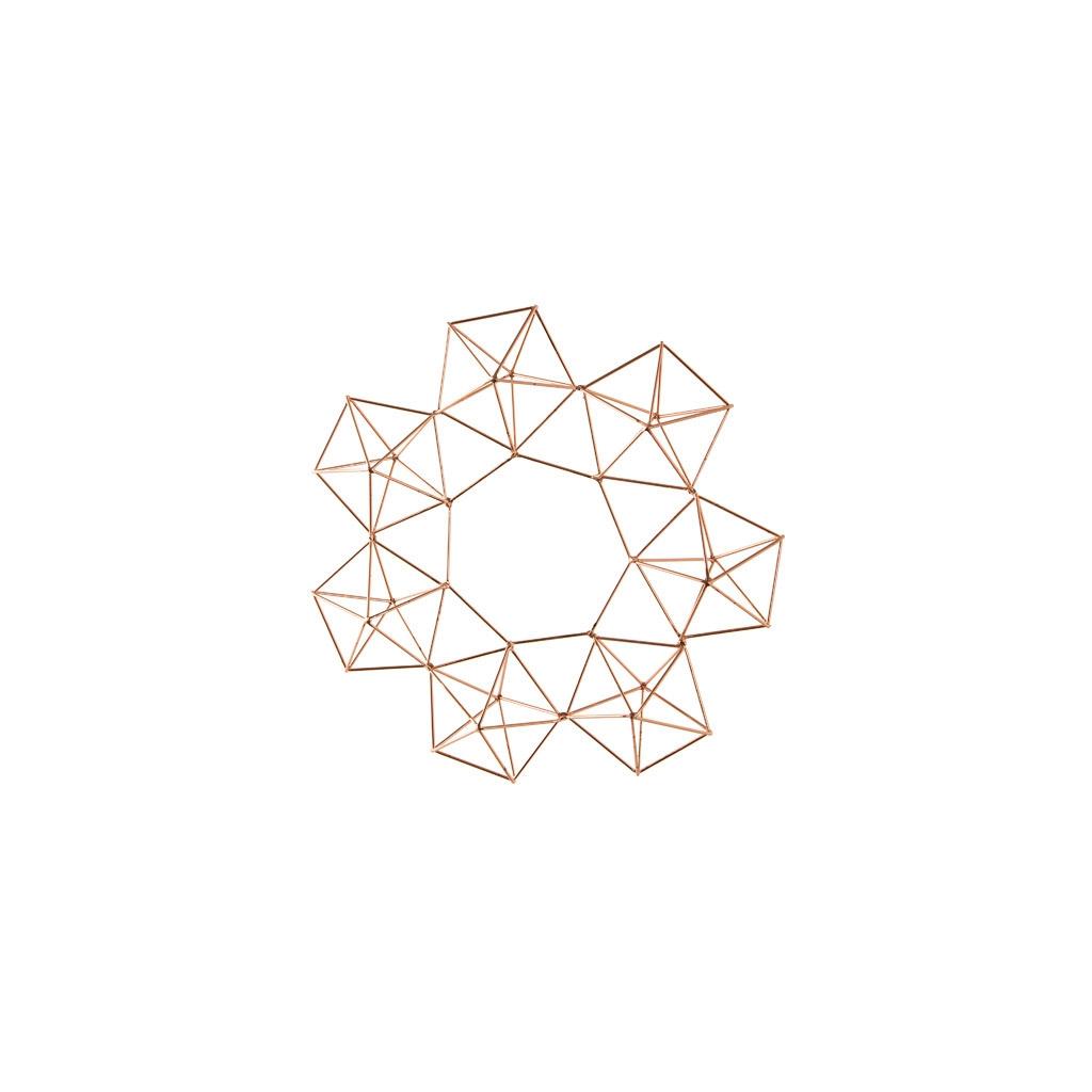 Suspensión geométrica decorativa estilo Himmeli Corona 32 cm Cobre ...