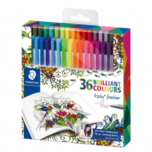 36 rotuladores Triplus Fineliner - STAEDTLER - édition Johanna Basford