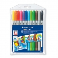 12 rotuladores para colorear doble punta 1 et 3 mm - STAEDTLER - Noris Club