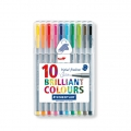 10 rotuladores Triplus Fineliner de 0.3 mm - STAEDTLER - Brillante Colours