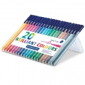 20 rotuladores Triplus Fineliner de 1  mm - STAEDTLER - Brillante Colours