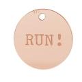 b2d51ab1d381 Dije Grabado Run 11 mm de Plata 925 dorado rosa x1