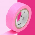 Masking Tape Papel Washi 15 mm - Rosa Fosforescente x10m