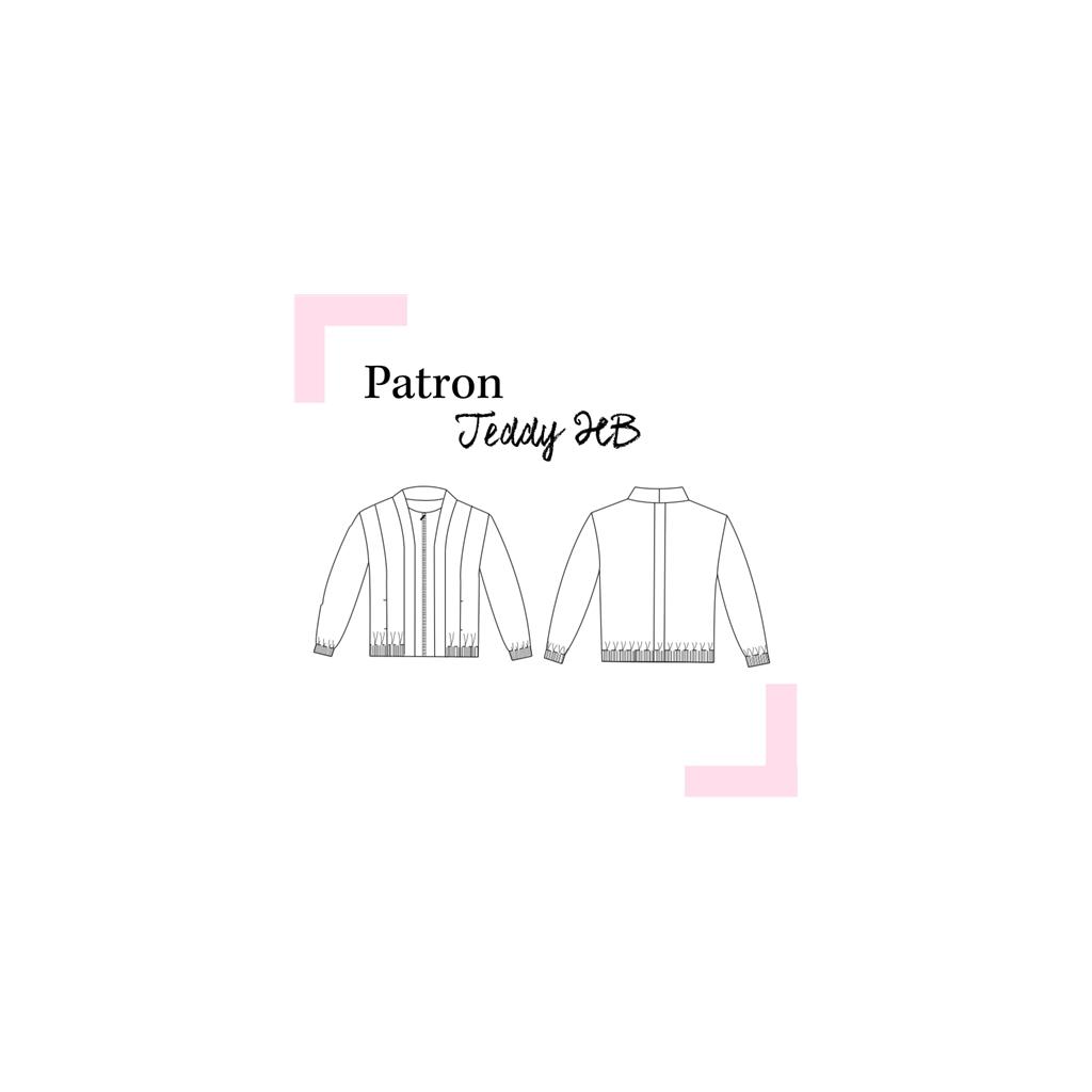 Patrón de costura Louis Antoinette chaqueta Teddy HB - Perles & Co
