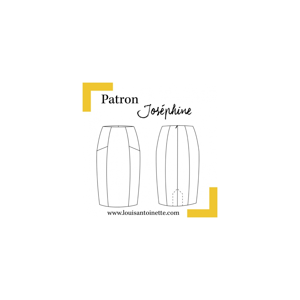 Patrón de costura Louis Antoinette falda Joséphine - Perles & Co