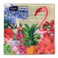 Servilleta de papel Tropical Garden 33cm Multicolore x20
