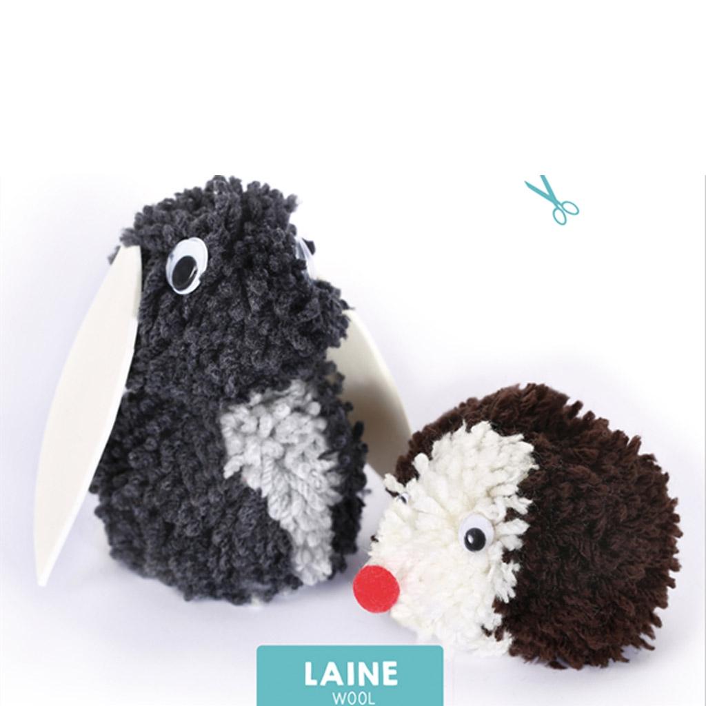 kit de lana para ni os kipik et fripon les pompons que puedes ha perles co. Black Bedroom Furniture Sets. Home Design Ideas