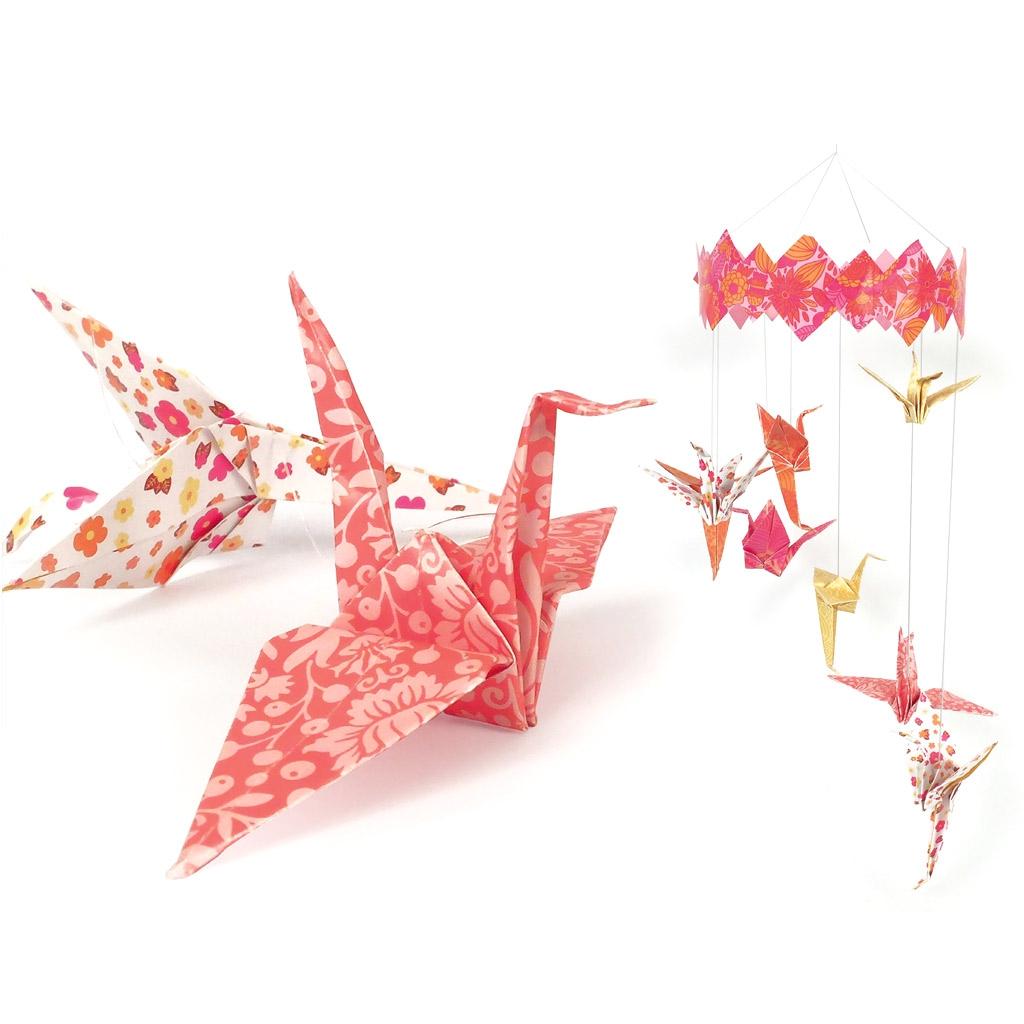 Kit deco papel para niños : Móvil origami Envolée mágico que puede ...