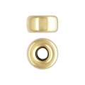 Cuenta pasante 5.3x2.8 mm Gold filled 14 kilates x1