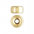 Cuenta pasante 6x3.4 mm Gold filled 14 kilates x1