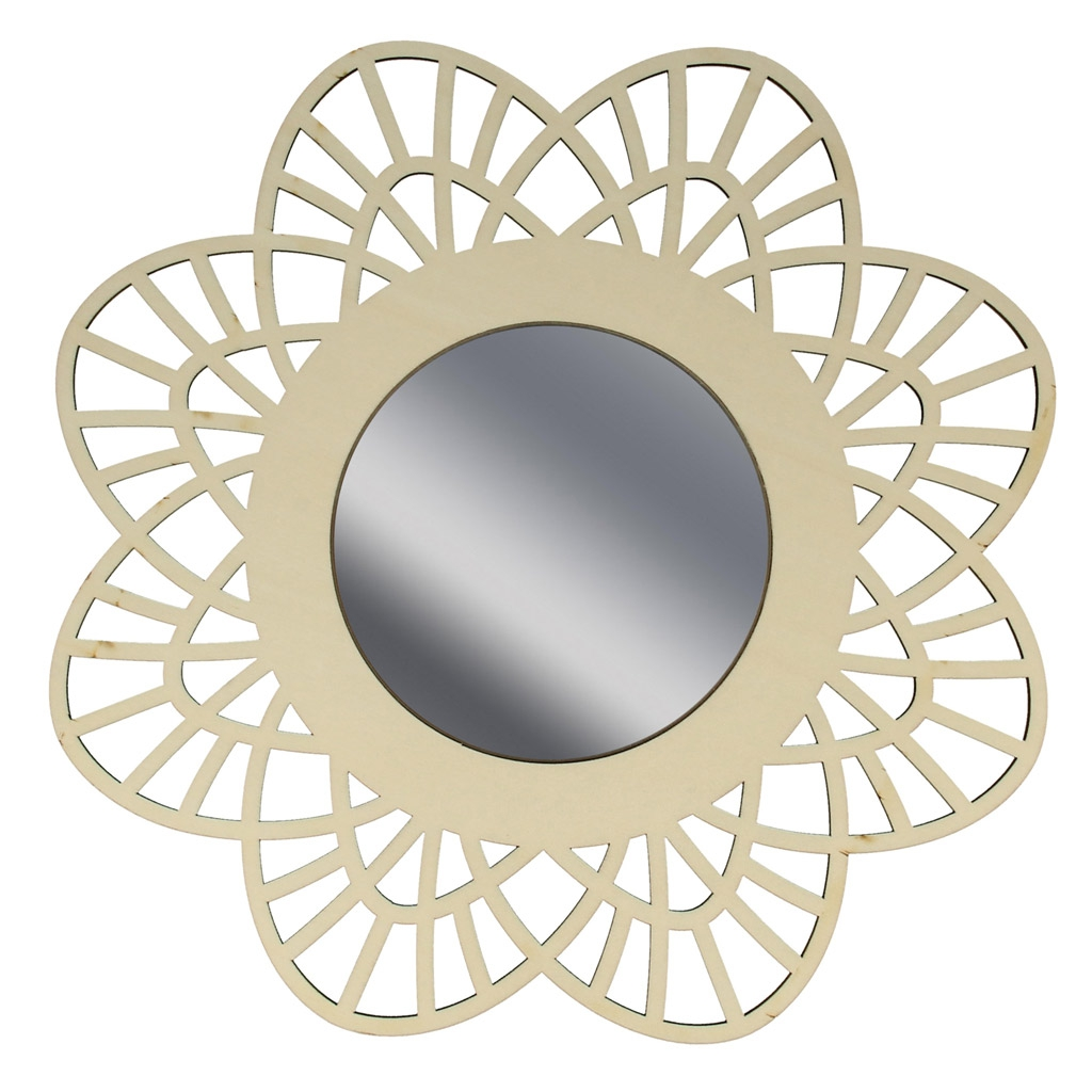 Espejo calada de madera a personalizar 28 cm con forma de - Espejos con formas ...