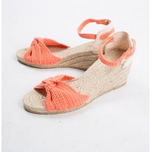 mejor servicio cd8e6 bcc83 Zapatos de cuña con suela de esparto Phildar a personalizar Talla 35/36  Natural