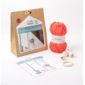 Kit DIY suspensión de macramé color corail x1