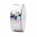 Cinta adhesiva - Paper Poetry Tape 20 mm Holograma Cristal Plateado x10m