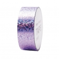 Cinta adhesiva - Paper Poetry Tape 20 mm Holograma Lunares Lilac x10m
